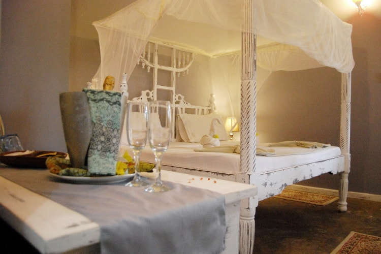 Deluxe rooms located on the first floor with ocean views in Zanzibar