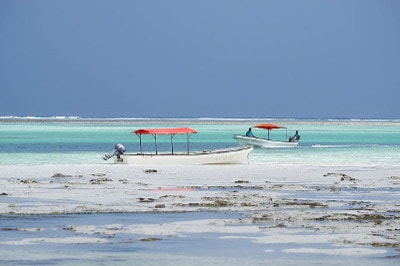 Relaxation, vacation, sun, sea and Indian Ocean at Bwejuu in Zanzibar